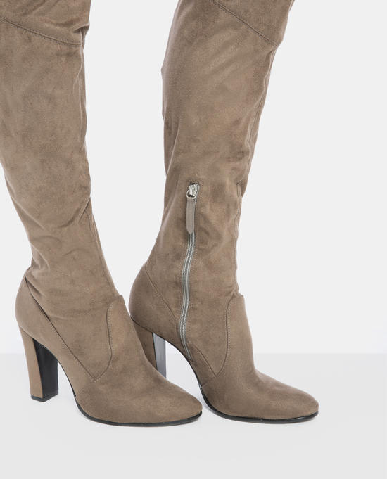 5c0e6edeb Suede Over the Knee Boots camel | Schutz | MELIE
